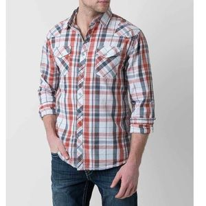 BKE Abbott plaid button down shirt